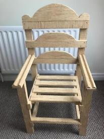 Small chair made from matchsticks
