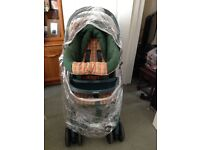 Graco Pushchair with Full Cover and Baby Car Seat