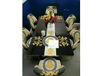 💕💕BRAND NEW MEGA SALE 👌👌ON VERSACE DESIGN EXTENDABLE DINING TABLE AND 6 CHAIRS