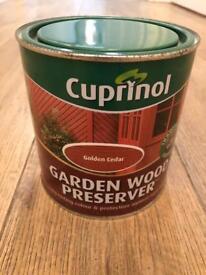 Cuprinol Golden Cedar Garden Wood Preserver Paint 1L