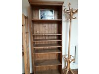 Freestanding wooden shelves