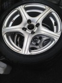 Fox alloy wheels 4x100