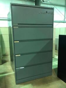 Teknion 5 Drawer Lateral File - Charcoal - $299