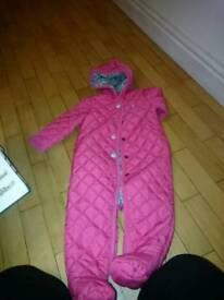 joules baby snowsuit 9-12 month