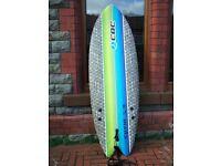 "California Board Company 5' 8"" Foam Soft Surf Board Fish Tail 2"
