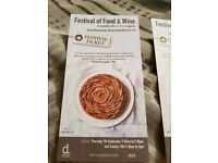 Food and wine festival tickets