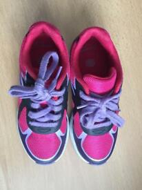 Girls clarks trainers 11F
