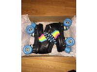 Rookie Forever Black/Rainbow Quad Skates