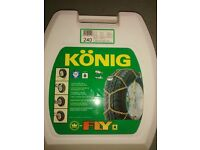 Konig Snow Chains - Unused, bought to fit BMWX3, details of size on photos