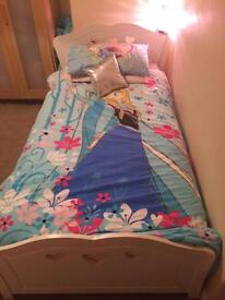 Girls heart white single bed with storage drawer underneath
