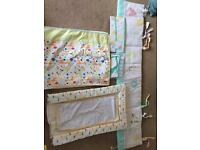 Baby nursery bedding and accessories set