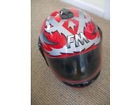 FM motorcycle helmet - red - size 56