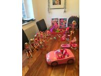 Barbie doll bundle, with dogs and car