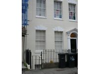 Spacious furnished double bed basement flat in period townhouse near Cabot Circus, suits a couple