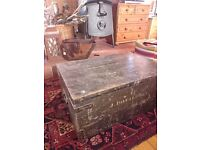 Army storage box....coffee table/tv stand
