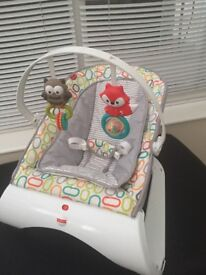 Baby walker, Baby bouncer and Baby car seat all in good condition