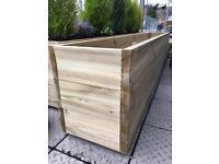 Garden wooden planter