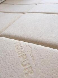 Tempur memory foam mattress topper for double bed