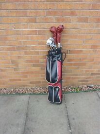 Complete kit for a person taking up golf