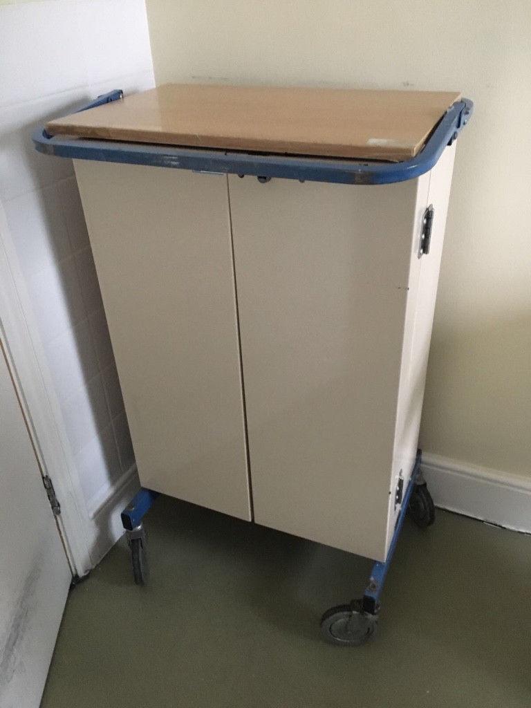 Bristol Maid Medical Drug Dispensing Trolley Lockable With