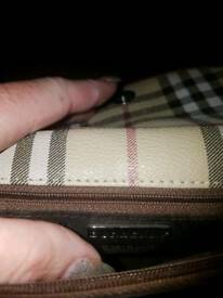 Authentic burberry clutch bag