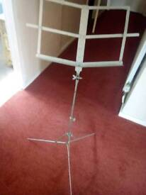 Old music stand fully adjustable £5