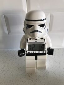 Child's Star Wars Lego clock toy