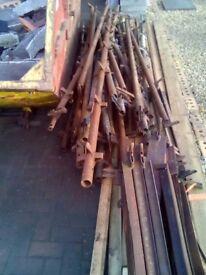 Job lot metal scaffolding.
