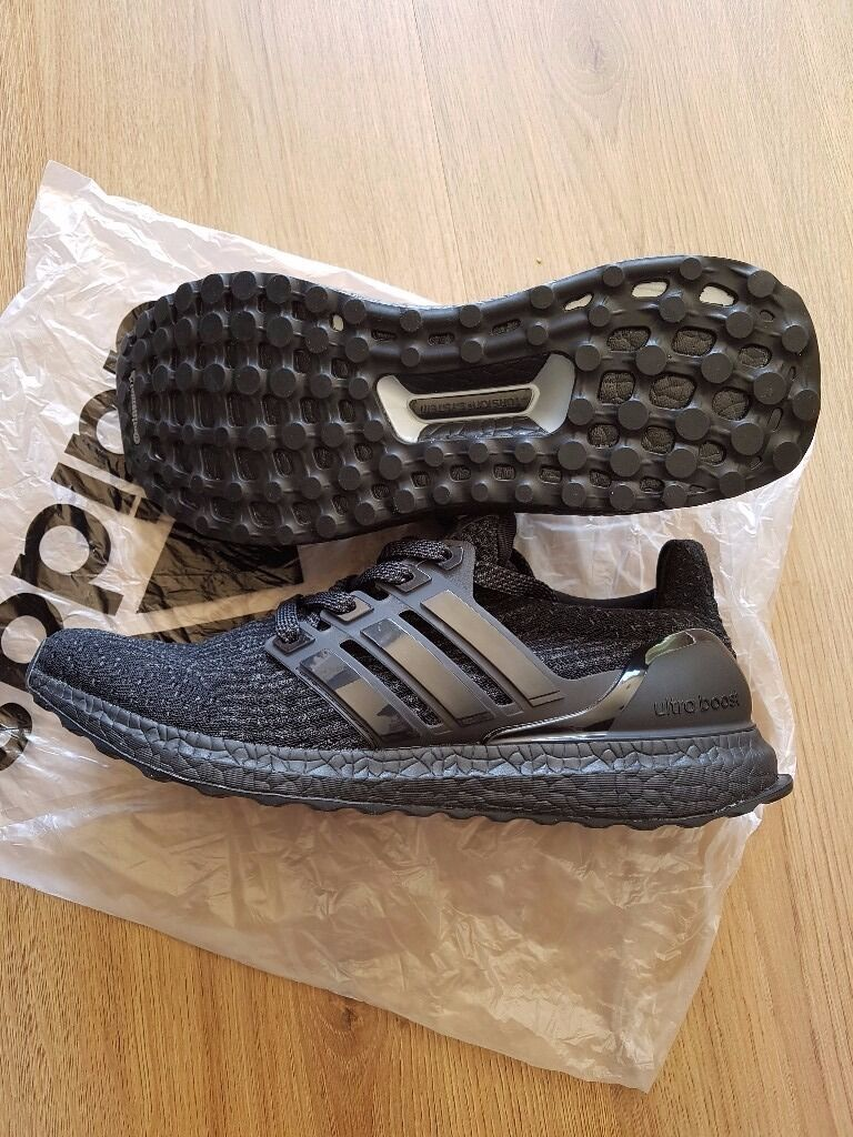 5f50ba523a9ef5 Adidas Ultra Boost Triple Black 3.0 UK size 7.5