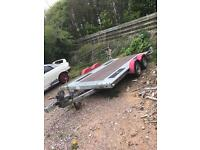 Brian James trailer car transporter twin axle low loader
