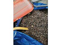 Aggregate - grey gravel free to uplift