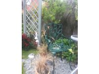 Metal Garden Chairs in Antique Green. 8 available for individual or bulk purchase.