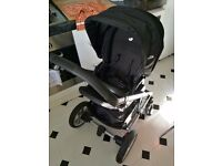 Joie chrome plus travel system with carry cot, gemm car seat, isofix base and 2 belt bases