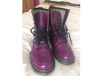 Purple patent Dr Martens, size 4