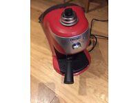 De'Longhi Espresso Coffee Machine Red in Colour Like New.