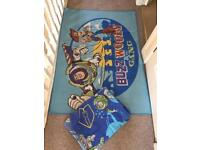 Kids room rug and single bed cover