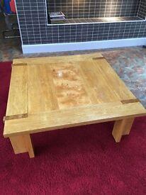 Solid oak table 1m x 1m