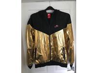 Mens Nike Large Windrunner Gold and Black Jacket
