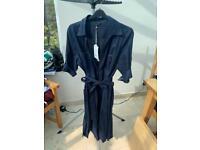 Laura Ashley Navy Linen Shirt Dress