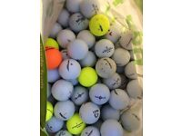 Approx 250 used golf balls, lots of different makes