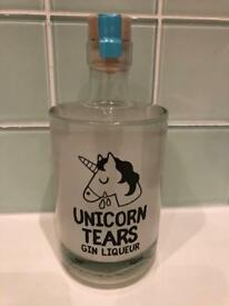 Unicorn tears British Gin bottle brand new sealed