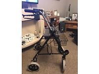Drive Medical WA006SIL-1 Black Steel Rollator