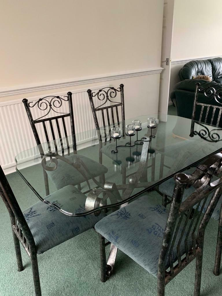 Glass Wrought Iron Dining Room Furniture In Bolton Manchester Gumtree