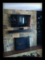 custom built fireplaces, custom stone designs in your home