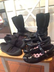 Five pairs of girls' shoes - size 13 - size 1.5 junior . £10