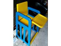 Baby high chair really good condition