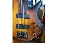 Ibanez SRF700 4-String FRETLESS Electric Bass Guitar
