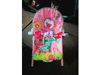 Fisher Price Rainforest Pink Bouncer