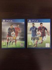 FIFA 16 & 15 - PS4 games