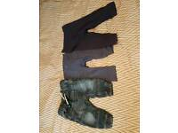 Unisex NEXT baby trousers x3 - 6-9 months